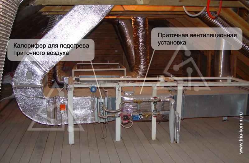 Один из примеров реализации приточной вентиляции в загородном доме