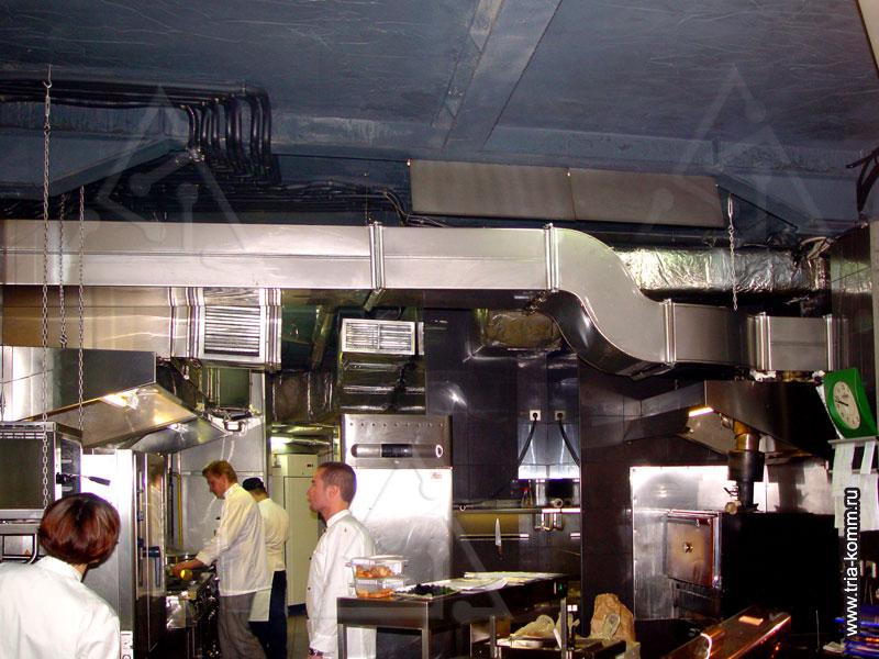 Общая схема вентиляции ресторана: в обеденном зале.