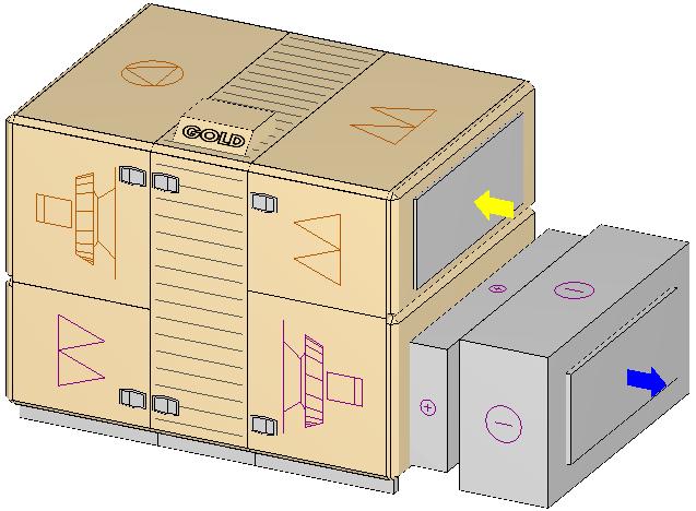 Вентиляционная установка Swegon Gold с калорифером и охладителем