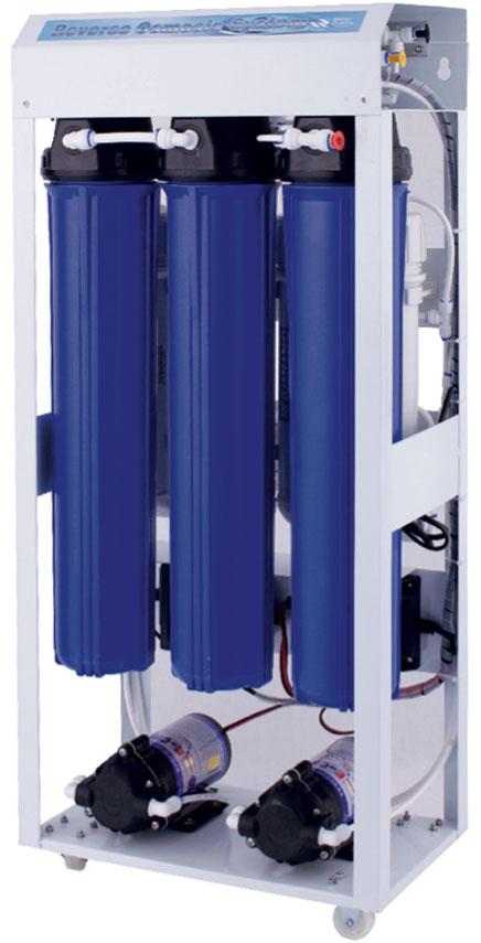 Система водоподготовки на полупромышленном «осмосе»