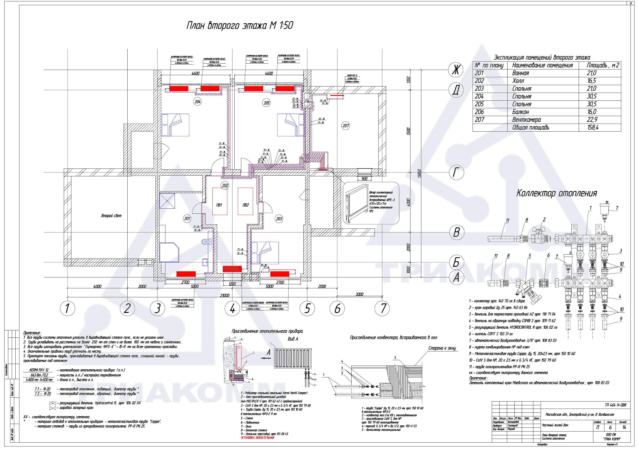 схема теплоснабжения коттеджа