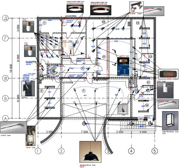 2-й чертеж дизайн-проекта дома