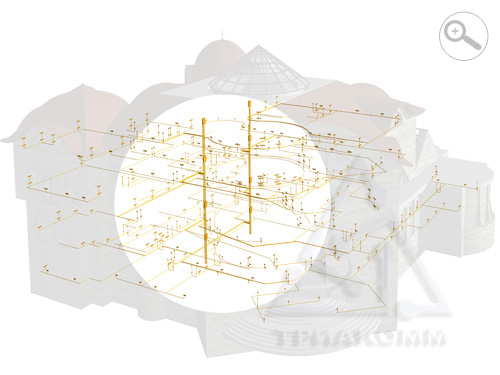 Приблизительно так выглядит спроектированная система электроснабжения здания (эту иллюстрацию можно увеличить).