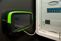 Фото пульта управления IQnavigator в техническом помещении квартиры, подключенного к Swegon Gold