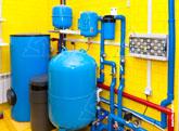 Фото оборудования системы горячего водоснабжения (ГВС), очистки воды и водоподготовки
